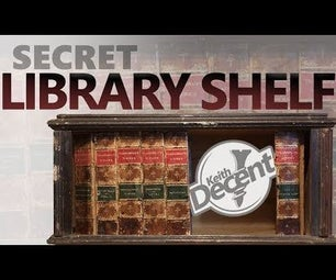 Secret Library Shelf - the Book Spines Slide Away to Reveal Hidden Storage!