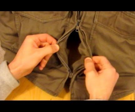 How to Fix a Zipper on a Jacket - Super Easy