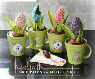 Hyacinth Cake Pops in Mug Cakes
