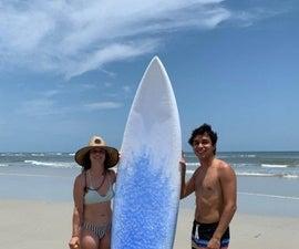 Pink Foam Surfboard