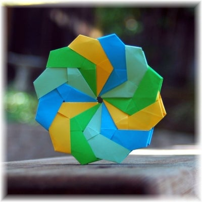 How to Make an Origami 2D Modular Eifel Star (12 Unit Coaster) by Hans Guth!