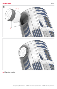 R2-A4 Star Wars Inspired Papercraft