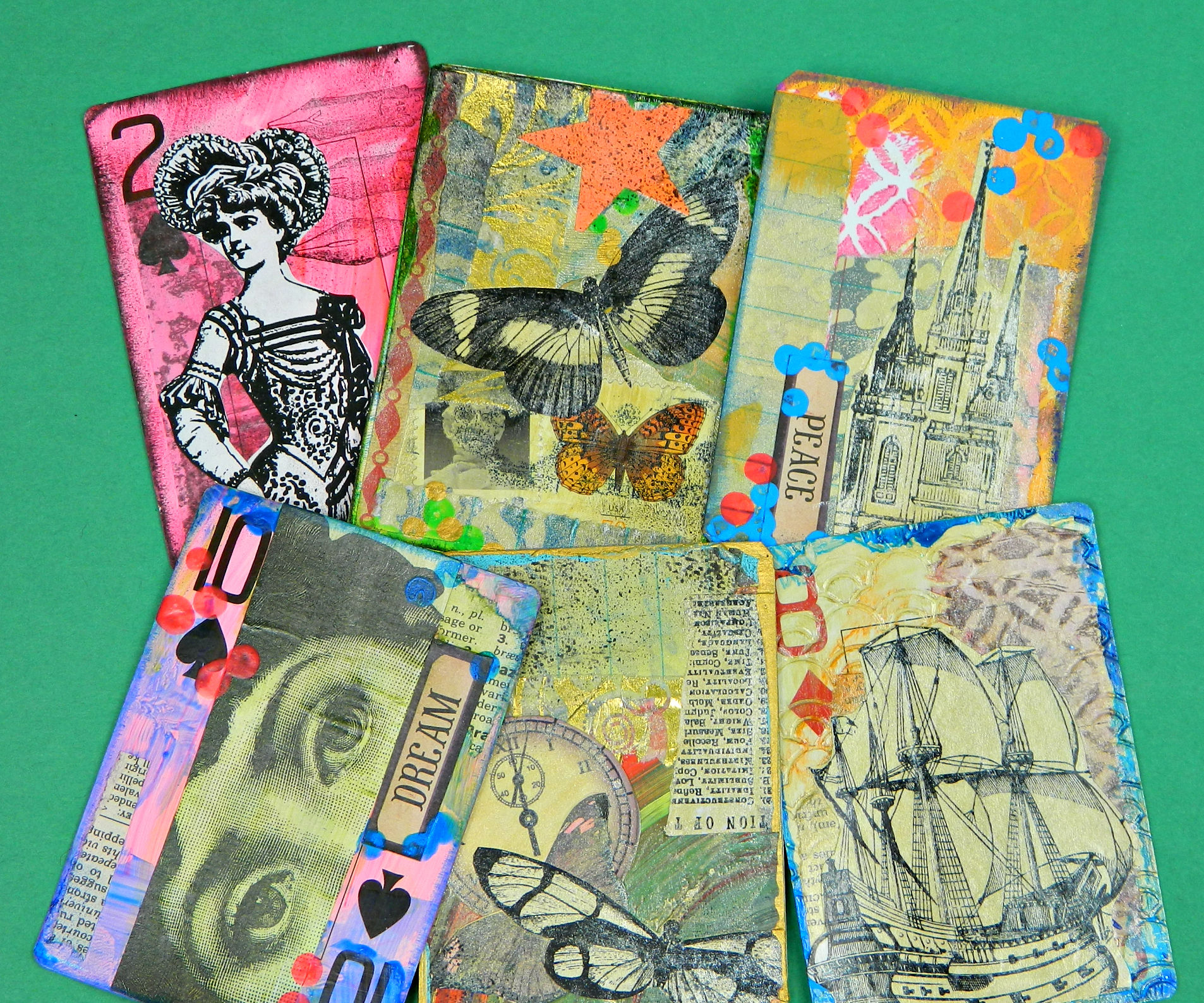 Heat Gun Rubber Stamps and ATCs