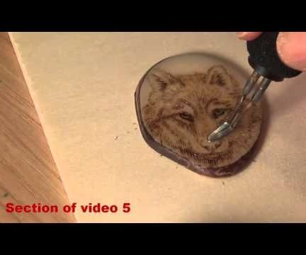Pyrography: How to Burn a Wolf on a Tagua Nut Slice