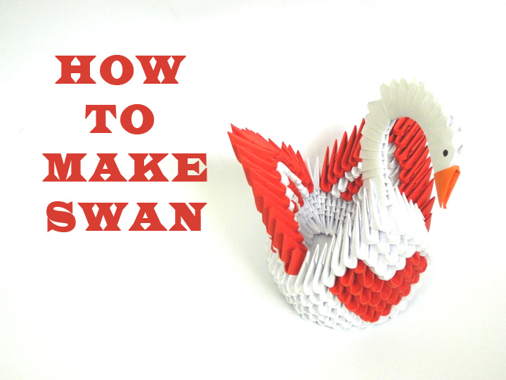 How to make 3D Origami Love Swan