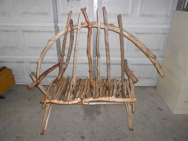 My Driftwood Bench.