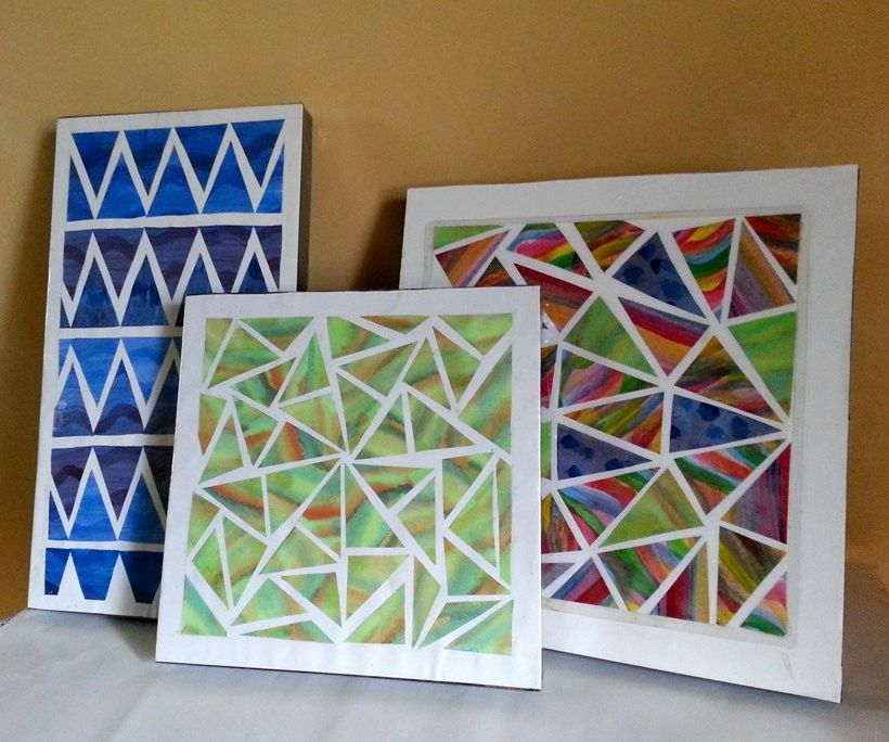 Chromatic-Geometric Wall Art