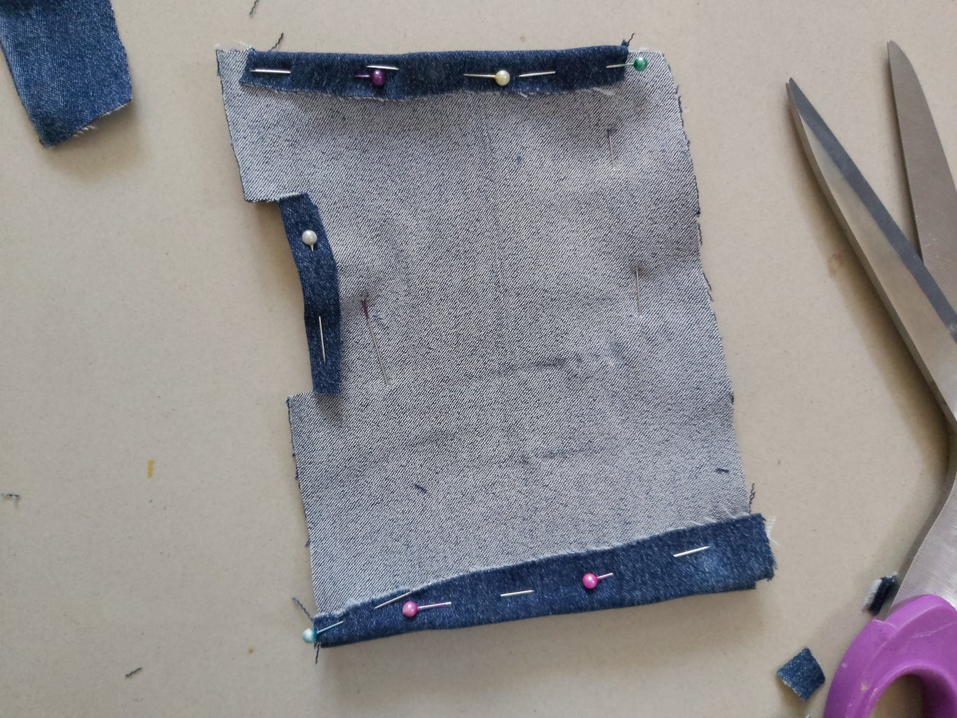 Cutting the Template and Fabric