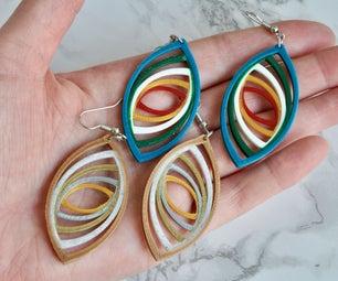 Recursive Infinity Earrings - 3D Print