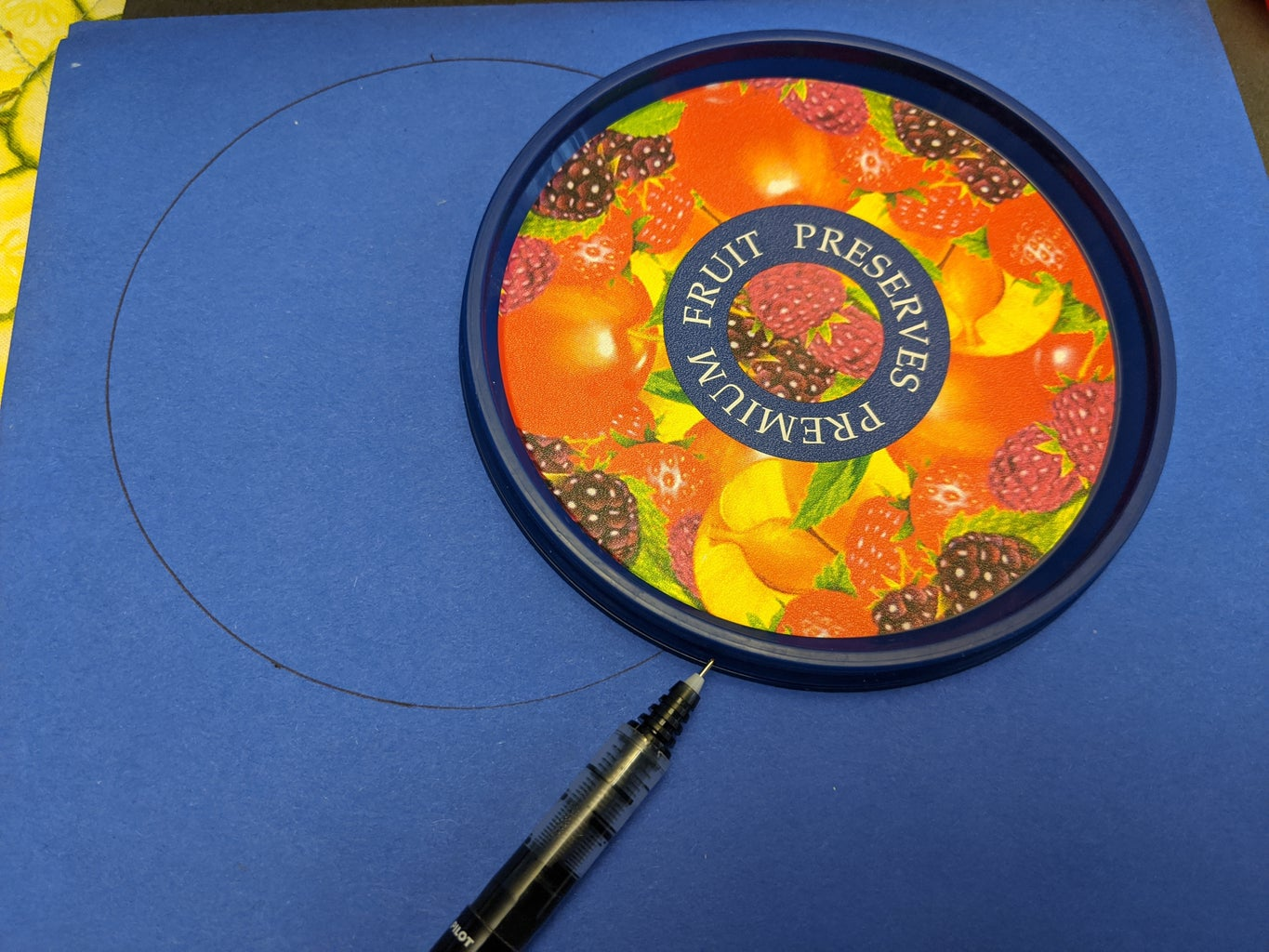 Trace a Circle on Your Paper.