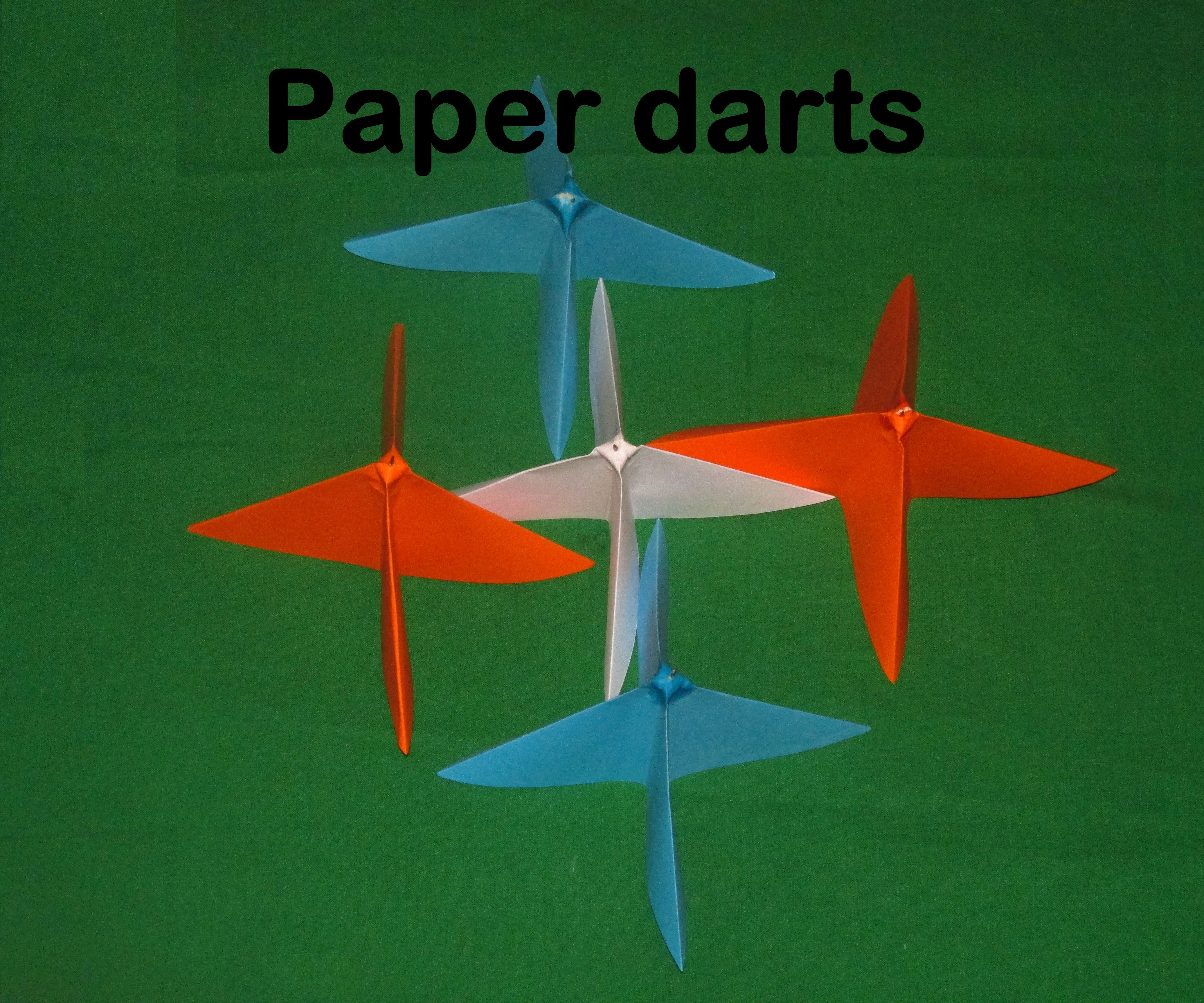 Paper Throwing-darts