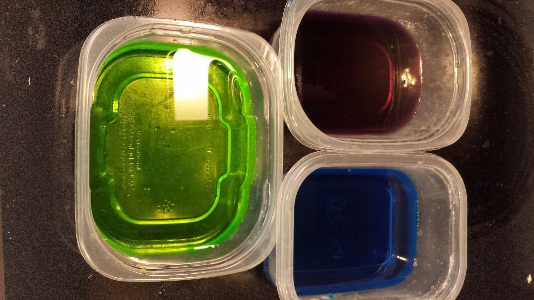 Add Three or Four Drops of Food Coloring to This Container of Water