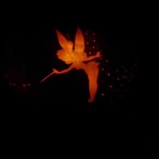 Tinker Bell Pixie Dust Pumpkin Carving
