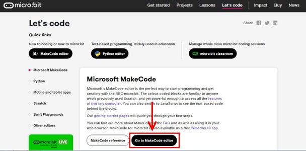MakeCode Interface