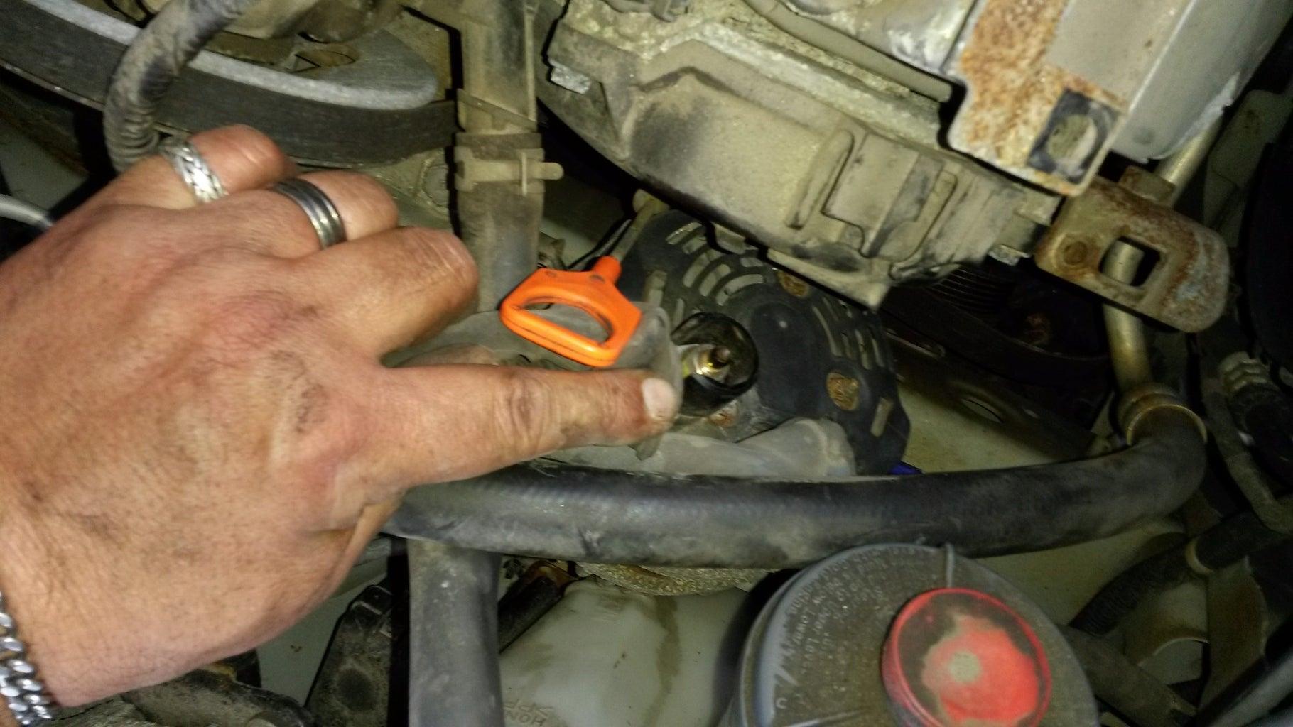 Disconnect the Alternator Wiring