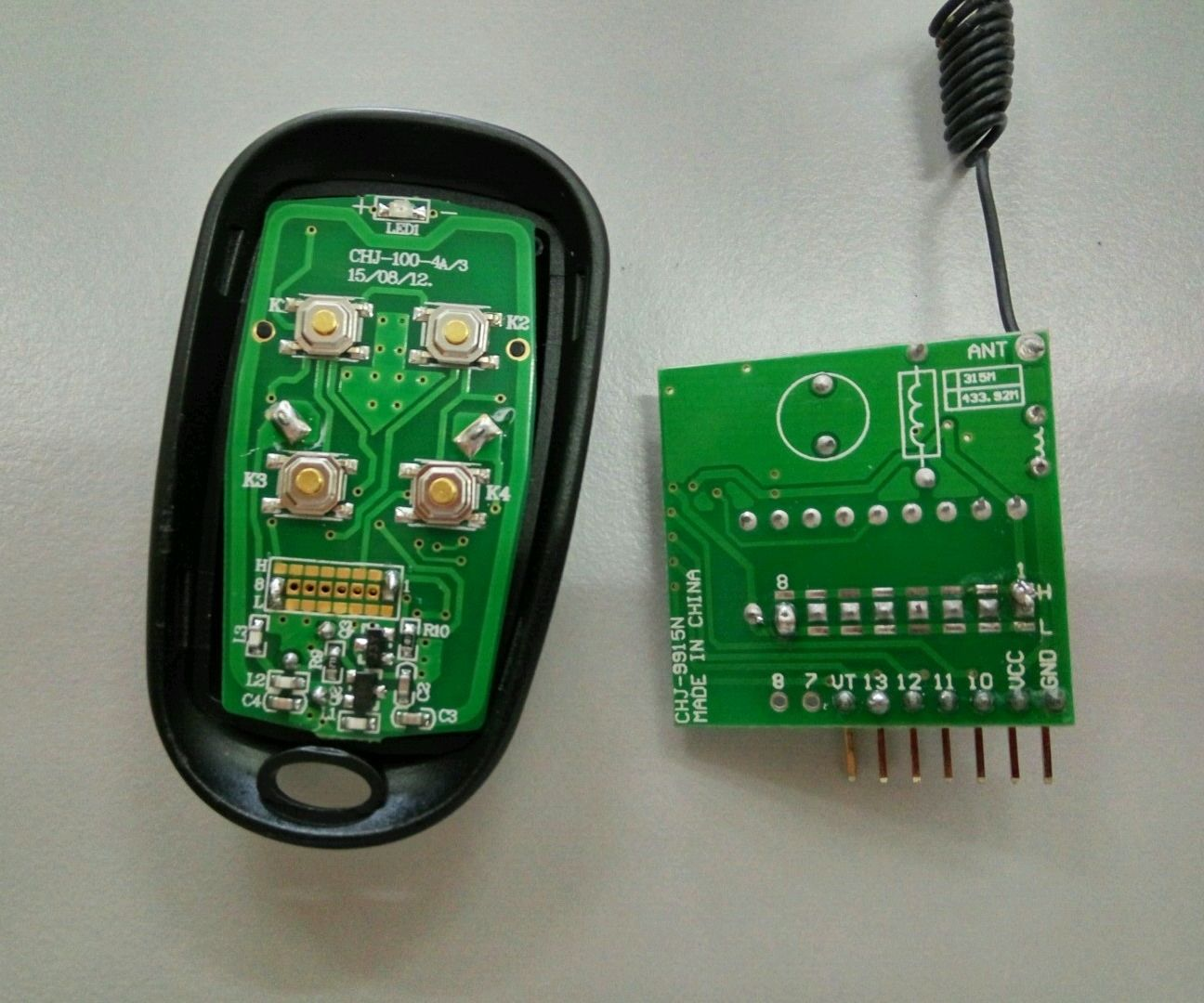 How to set the ID for the RF remote control kit