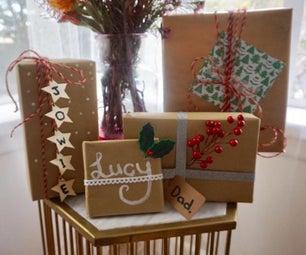 How to wrap your Christmas gifts + DIY Christmas Room Makeover