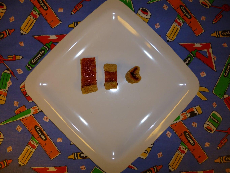 Bread/Grain - Mini Heart Sandwiches