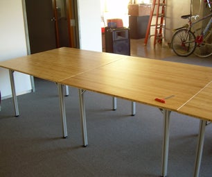 Aluminum and Bamboo Table