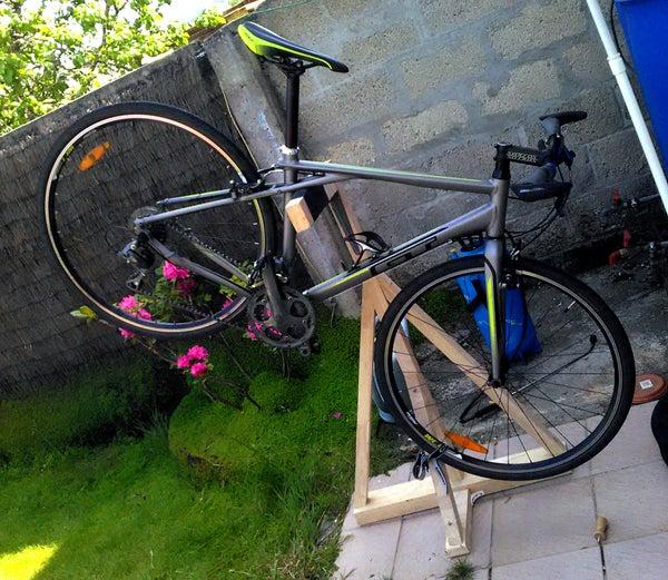 Bike Repair Wood Stand