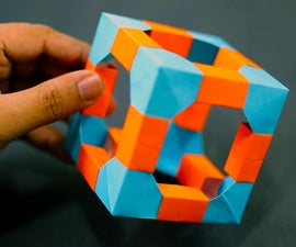 How to Make an Easy Skeletal Cube Out of Paper (Modular Origami)!