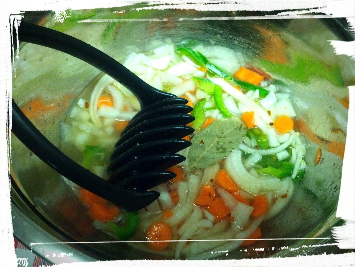 Chop Veggies, Add Pickling Brine