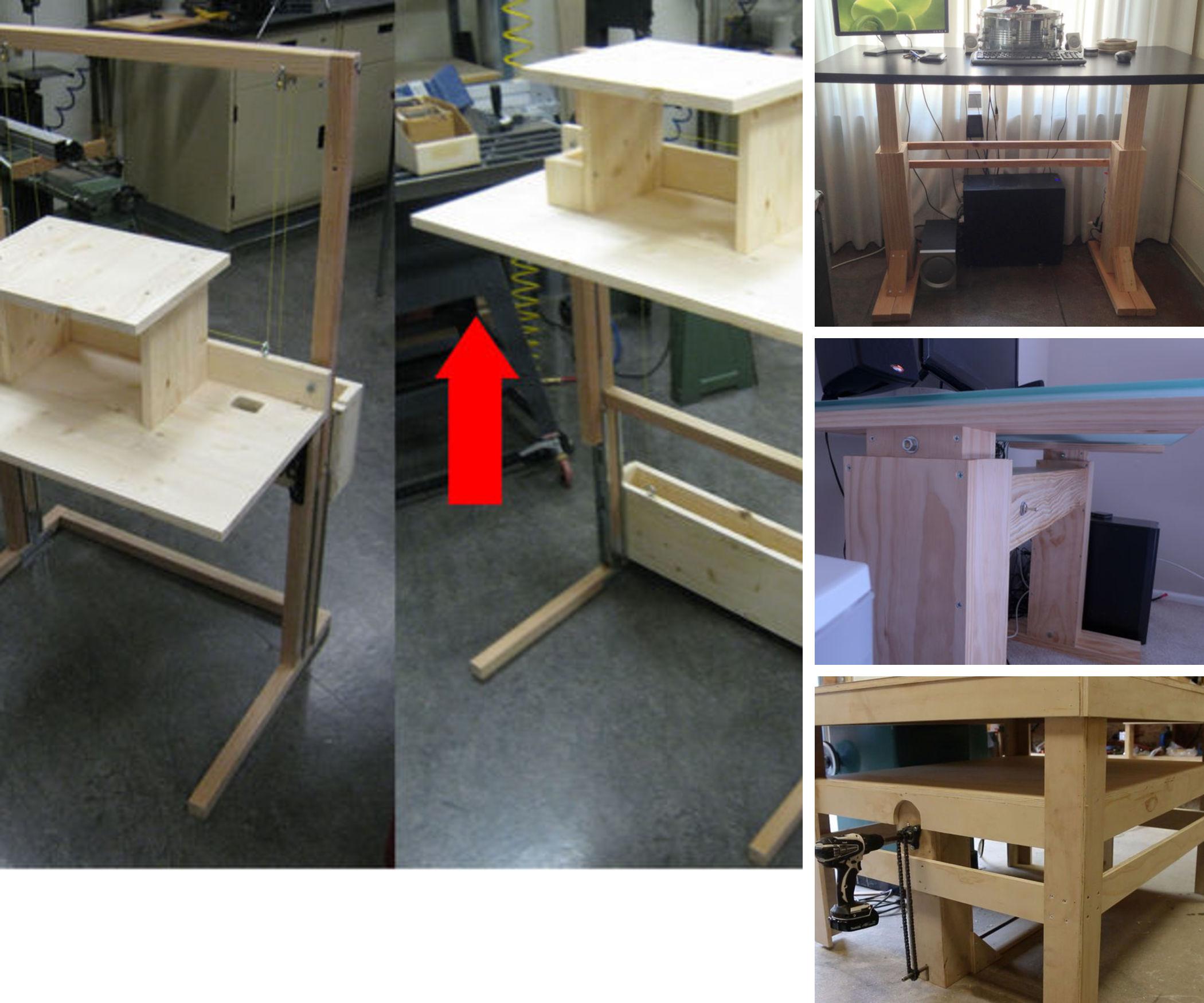 Adjustable-height Standing Desk/Workstation