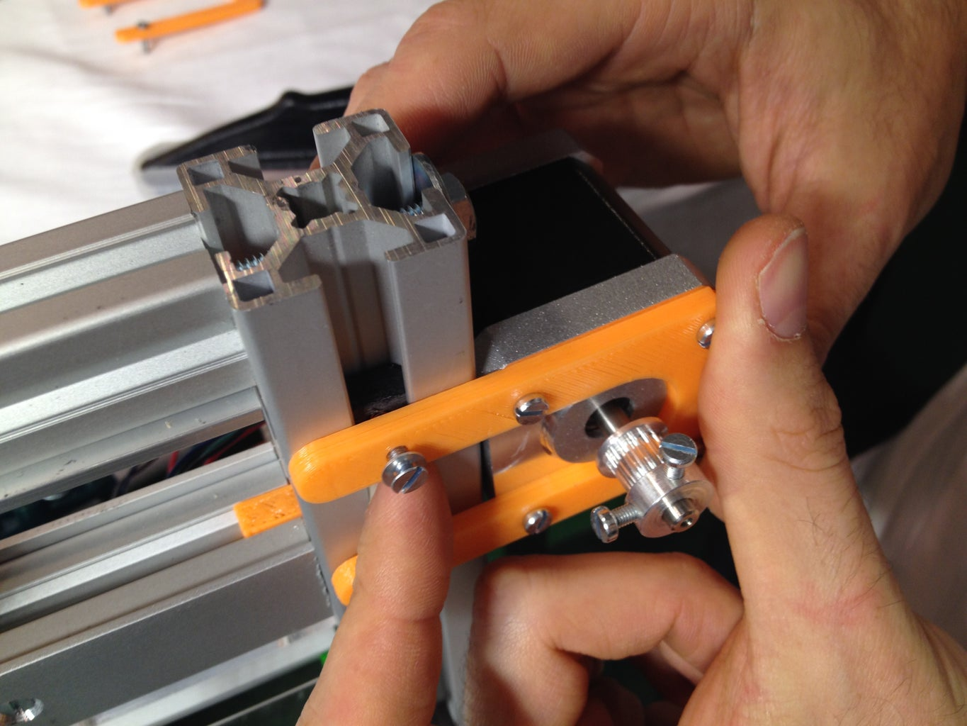 Place the Stepper Motor