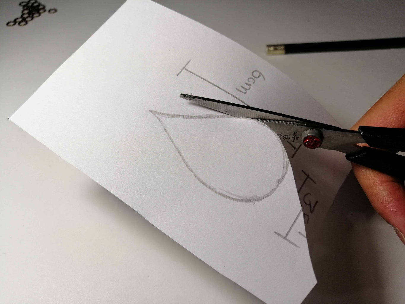 Template With Leaf Shape