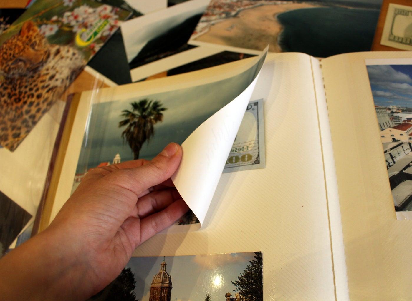 Magnetic Page Photo Album Hiding Place