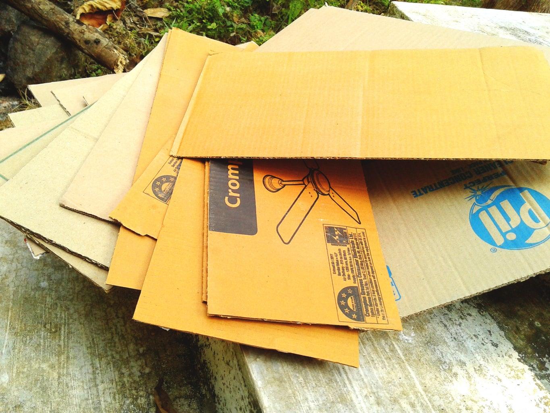 Preparing the Cardboard