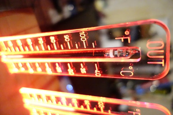 Wireless Nixie Thermometer