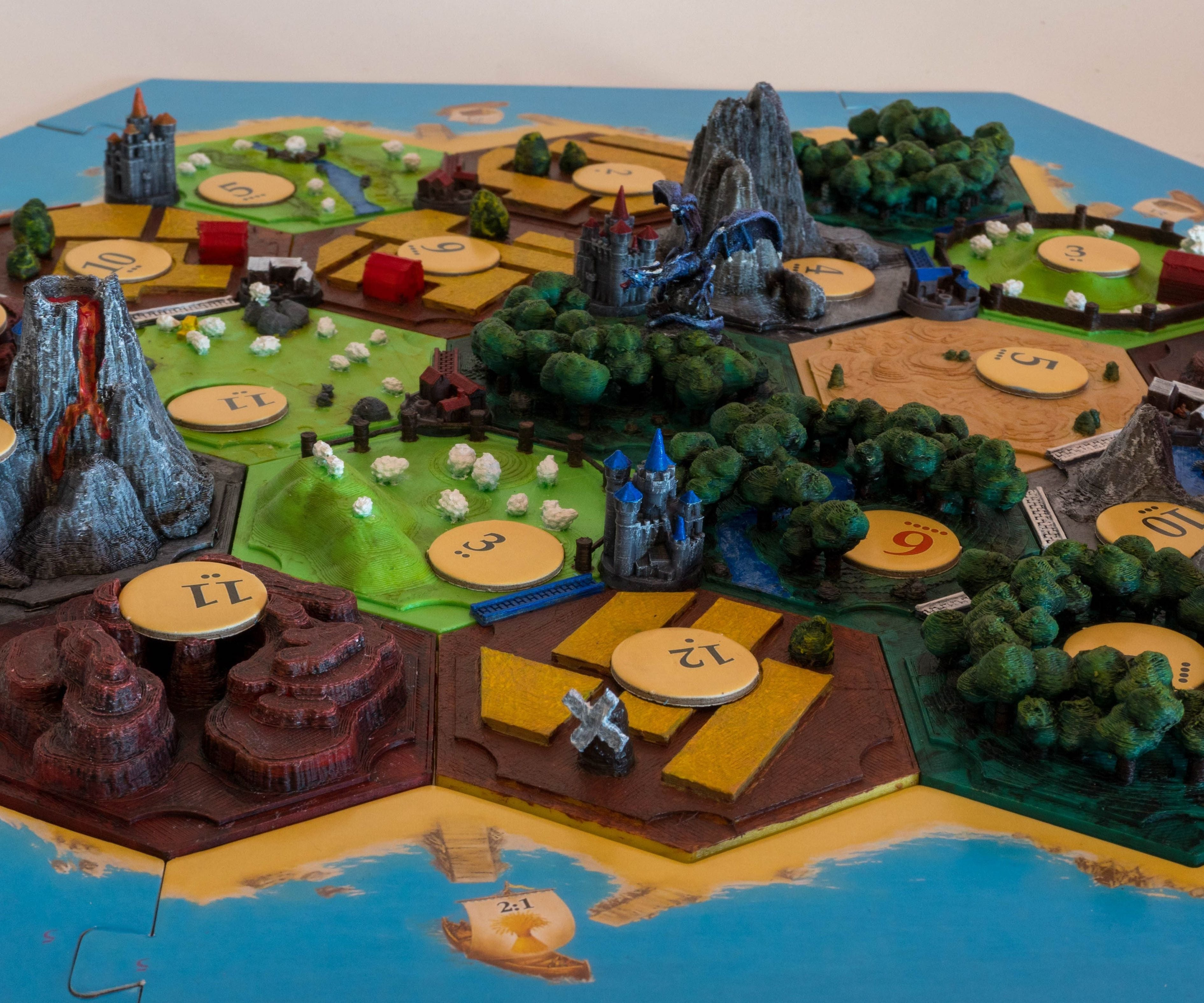 3d Catan Designed 3d Printed And Painted 16 Steps With Pictures Instructables