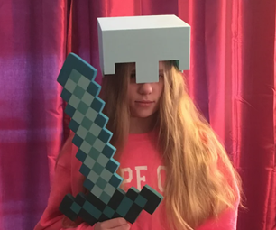 Wearable Minecraft Diamond Helmet - 3D Print