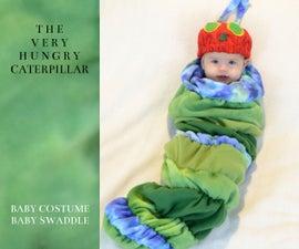 饥饿的毛毛虫婴儿服装