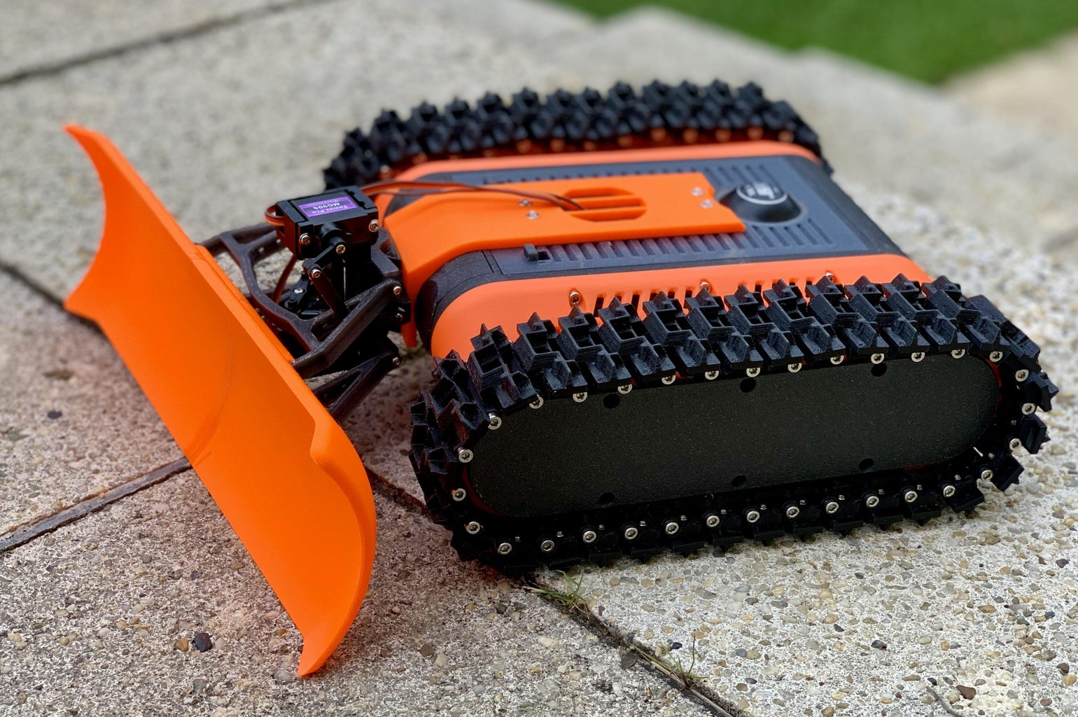 Snow Plow for the FPV Rover