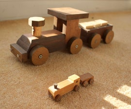 Scaled Up Toy Train