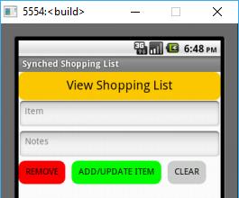 Synchronized Shopping List