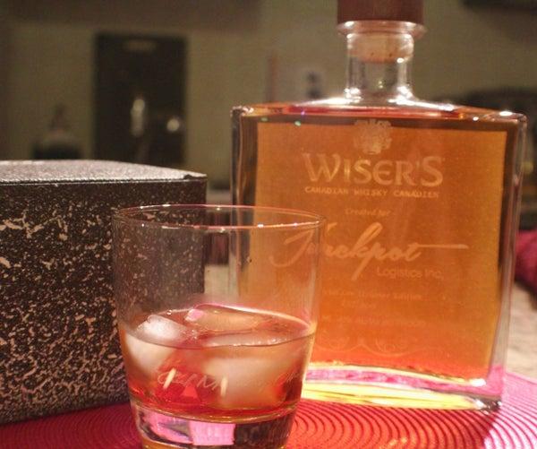 Glass Engraving   Laser Engraved Whisky Bottle