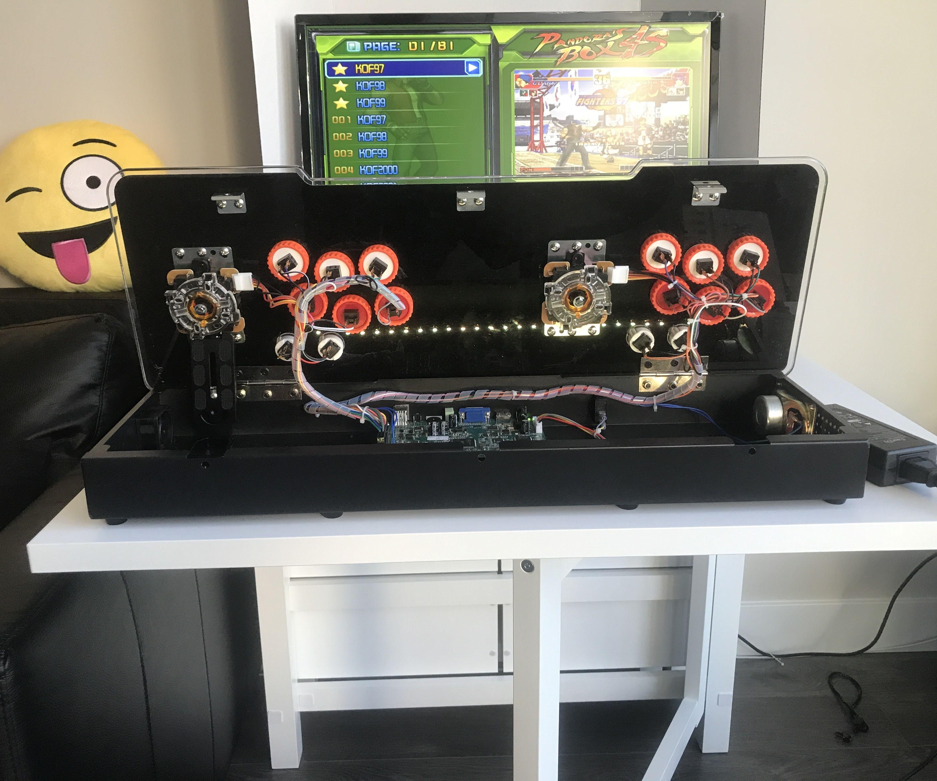 Pandora's Box Arcade SuperGun Button and Joystick Upgrades
