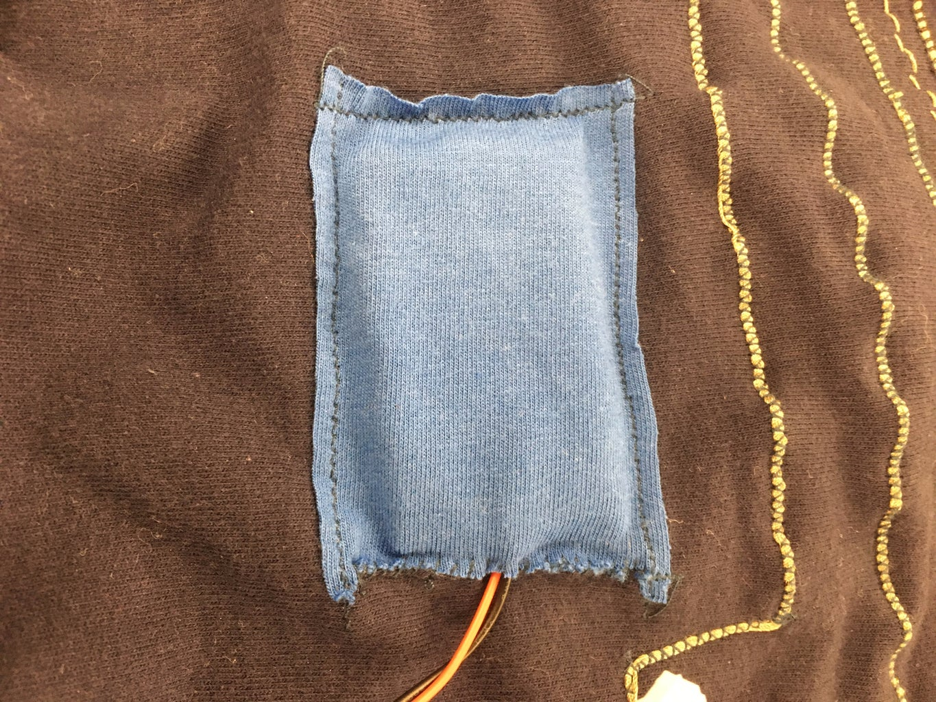 Sew on the Battery Pocket