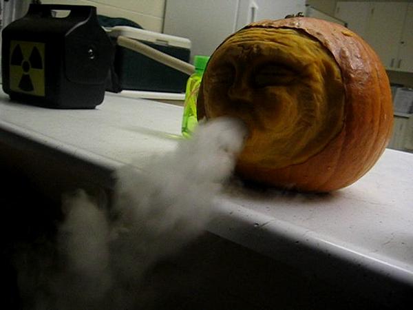 Dry Ice Pumpkin for Halloween
