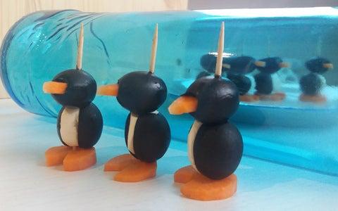 """Low-Calorie Appetizer """"Penguins"""""""
