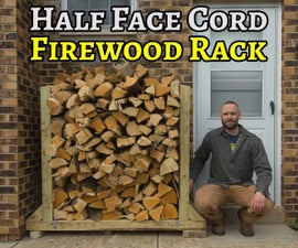 Half-Face-Cord Firewood Rack