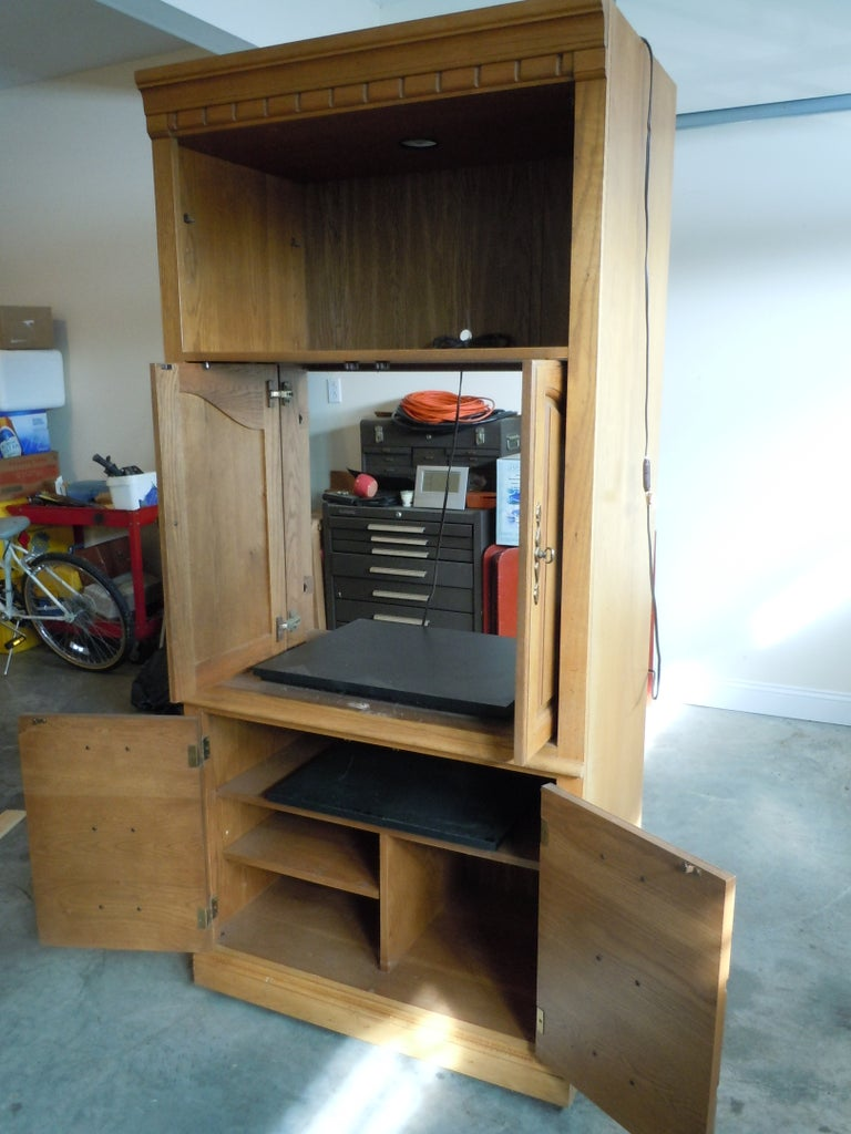 TV Armoire Modification