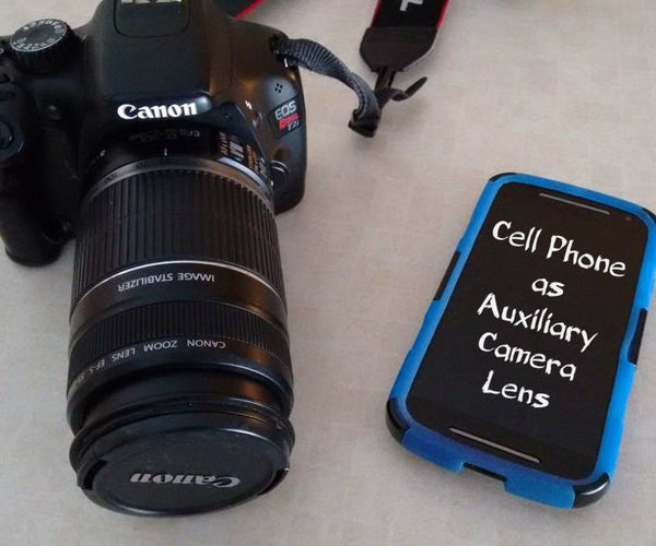 Cell Phone As Auxiliary Camera Lens