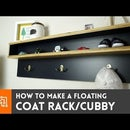 How to make a floating coat rack/cubby