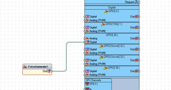 In Visuino Add & Set Components