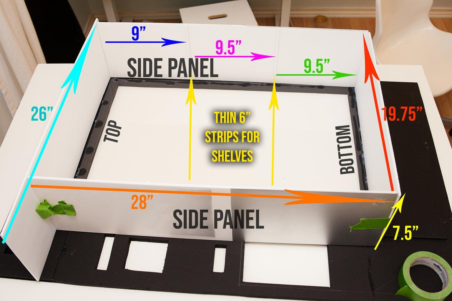Adding the Plexiglas, Inside Shelves, and Candy Slot