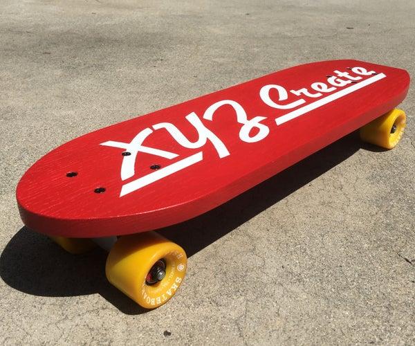 Vintage Style Skateboard // Free Template
